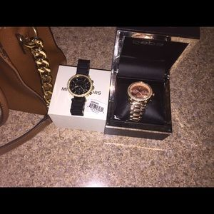 Two watches mk watch and Bebe